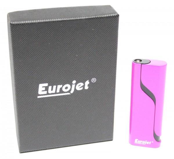 "Eurojet Sturmfeuerzeug ""New Line"" Pink mit roter Sturmflamme"
